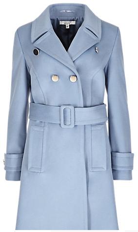 Pale Blue Belted Coat
