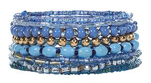 10 Pack of Blue Bracelets