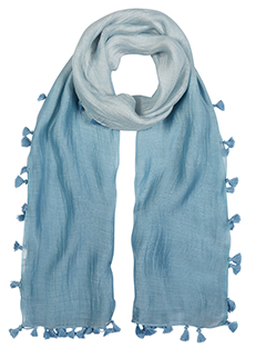Pale Blue Ombre Scarf