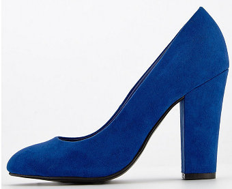 Cobalt Blue High Heeled Court Shoes