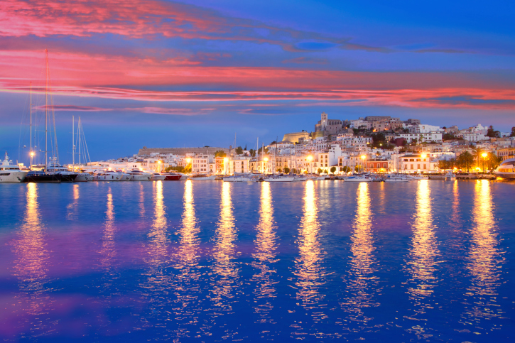 Ibiza Island at Sunset