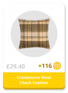 Cranbourne Wool Check Cushion