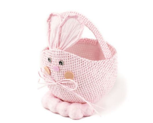 Pink Straw Rabbit Basket - only 50p at Hobbycraft